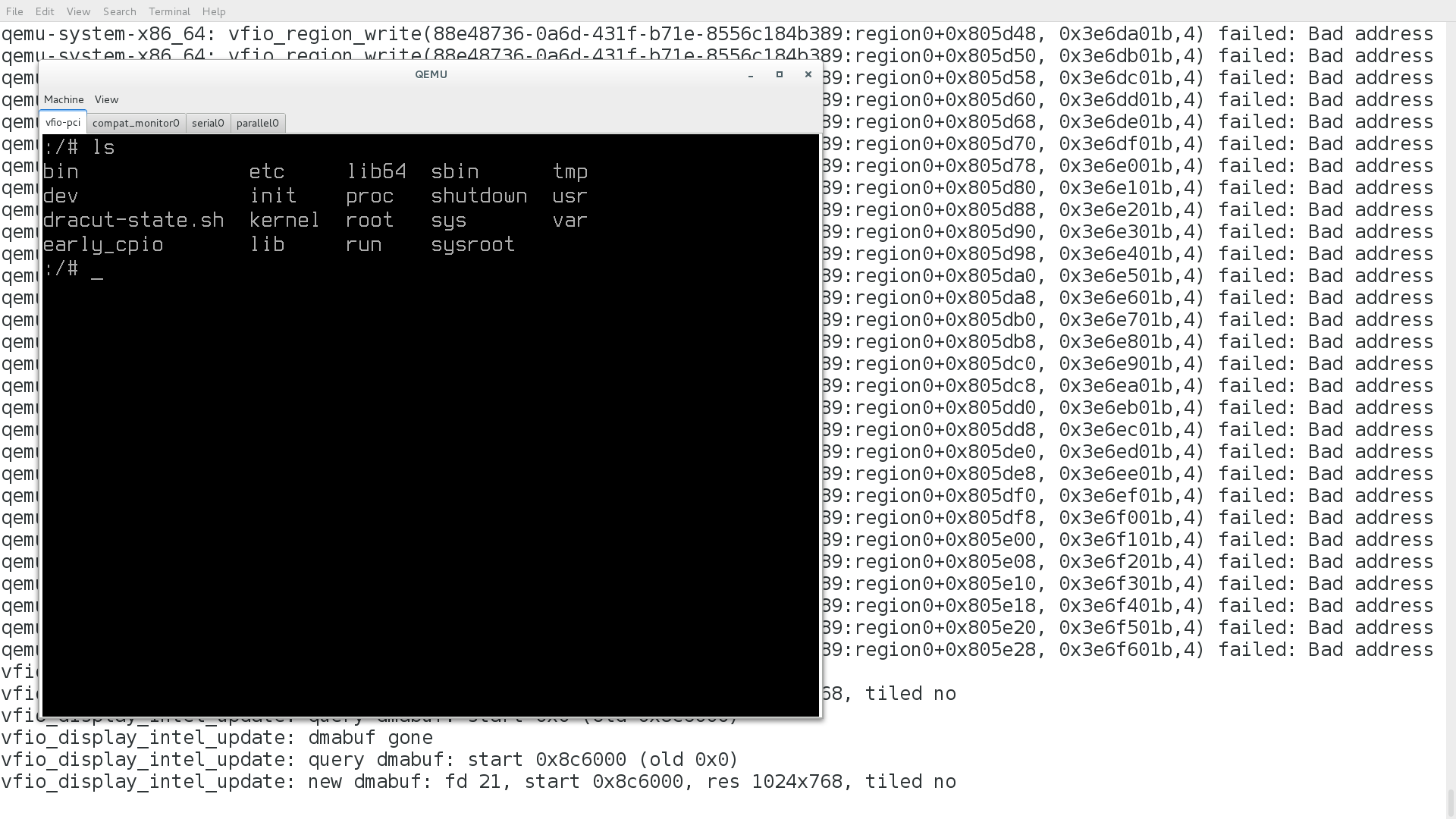 local display for intel vgpu starts working | kraxel's news